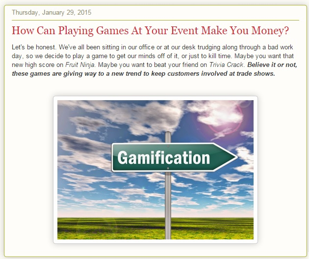 how can playing games at your event $